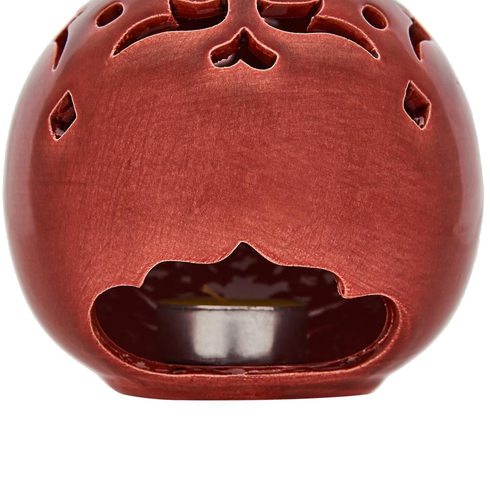 Yedi Home&Decor Top Dekoratif Seramik Obje - Kırmızı