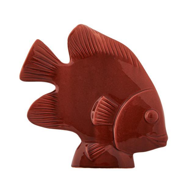 Yedi Home&Decor Seramik Balık Biblo - Kırmızı