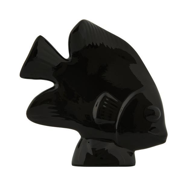 Yedi Home&Decor Seramik Balık Biblo - Siyah