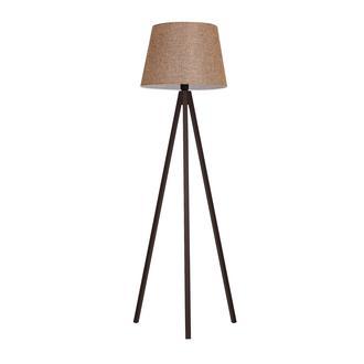 Safir Light Tripod Lambader - Ceviz Ayak / Açık Kahverengi Konik Şapka