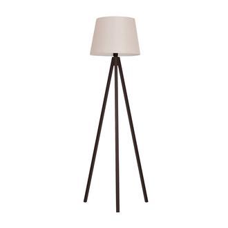 Safir Light Tripod Lambader - Ceviz Ayak / Kahverengi Konik Şapka