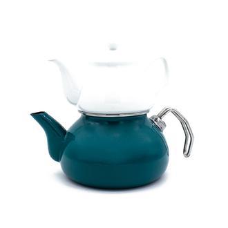 Sembol Emaye Çaydanlık - Yeşil