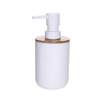 AquaLuna Bambu Kapaklı Sıvı Sabunluk - Beyaz