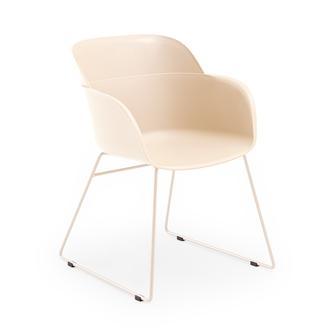 Tilia Shell U Modern Sandalye - Krem/Krem