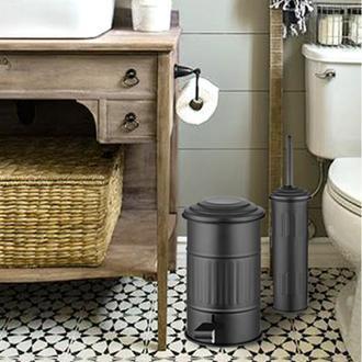The Mia Banyo Çöp Kovası - Siyah - 5 Litre