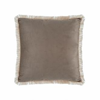 Garden Kadife Püsküllü Kırlent (Vizon) - 43x43 cm
