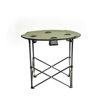 Byeren Katlanır ve Çantalı Yuvarlak Kamp, Plaj, Piknik Masası - Yeşil