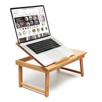 Bambum Katlanır Çalışma ve Laptop Masası - Bej