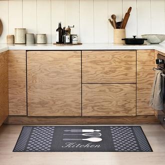 Giz Home Kitchen Mutfak Halısı (Antrasit) - 50x125 cm