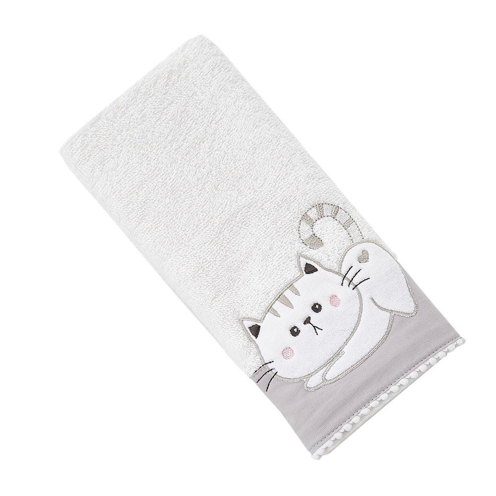 Nuvomon Pell Kitty Çocuk Havlusu - Beyaz - 30x50 cm