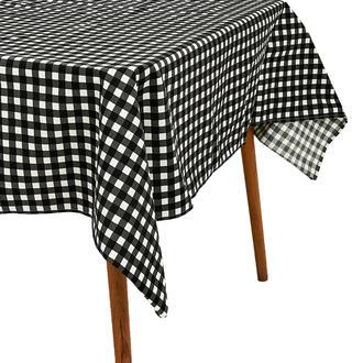 Premier Home Tartan Masa Örtüsü - Siyah - 150x220 cm