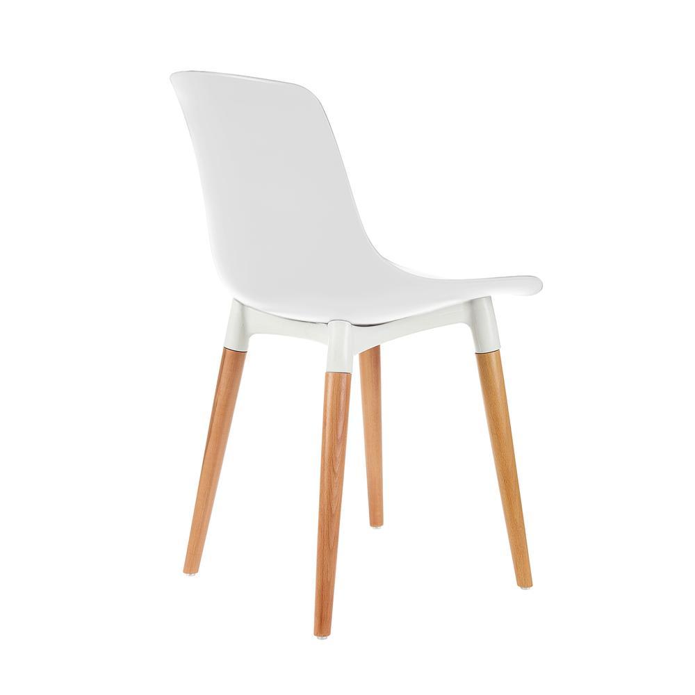 Just Home Shell Eames Düz Sandalye - Beyaz