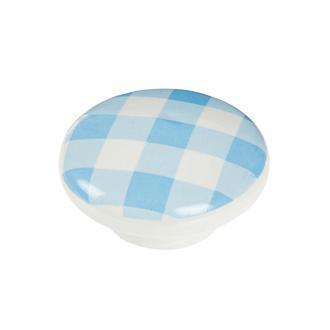 Esal Ufo Mavi Kareli Düğme Kulp - Mavi/Beyaz
