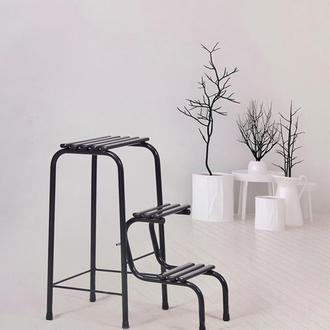 Leva House Metal Katlanır Merdiven - Siyah