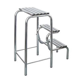 Leva House Metal Katlanır Merdiven - Gri