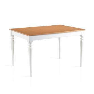 Just Home Country Mutfak Masası - Beyaz / Bambu