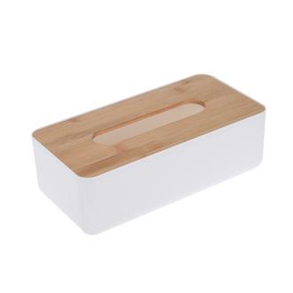 AquaLuna Bambu Grönümlü Kağıt Havlu Kutusu - 26x13X8 Cm