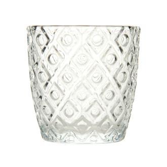 Q-Art Gümüş Detaylı Cam Mumluk - Asorti