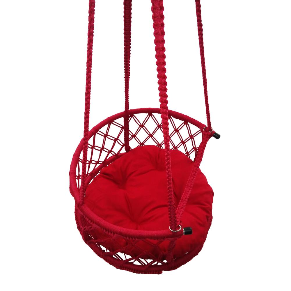 Altınoluk Çocuk 50'lik Davul Salıncak - Kırmızı / Kırmızı Minderli