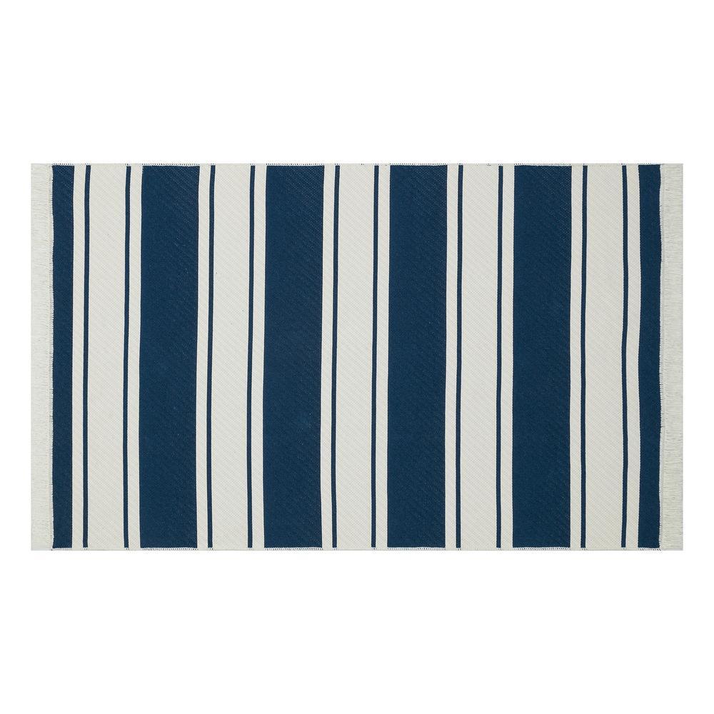Eko Halı Arya Kilim (Beyaz/Lacivert) - 80x300 cm
