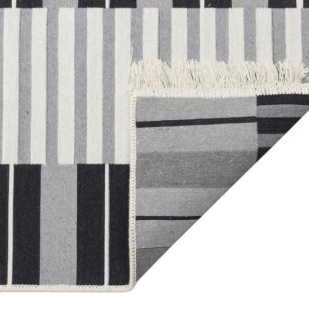 Eko Halı Arya Kilim (Siyah/Gri) - 80x300 cm
