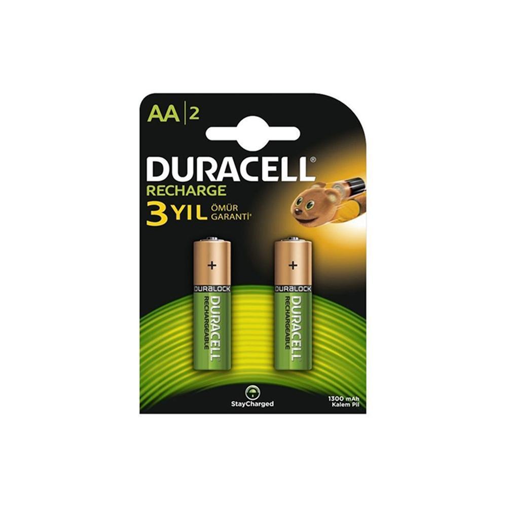 Duracell 2'li Şarj Edilebilir AA Pil - 1300 mah