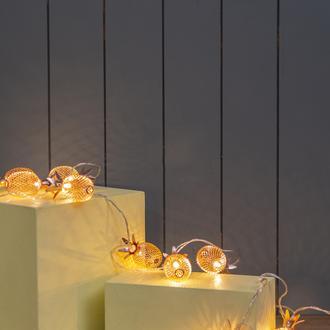 Urban Mood Dl-233 10'Lu Bronz Ananas Dekoratif Led Işık