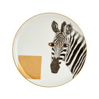 Porland Wild Life Zebra Pasta Tabağı - 20 cm