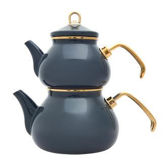 Taşev Beyzade Çaydanlık Takımı-Gri