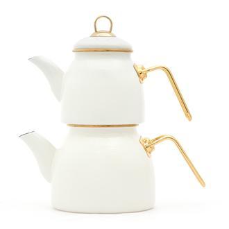 Taşev Sultan Çaydanlık Takımı - Krem
