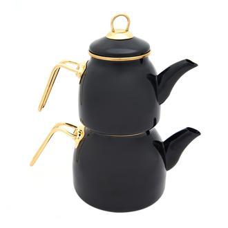 Taşev Sultan Çaydanlık Takımı - Siyah