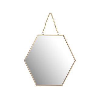 Q-Art Metal Altıgen Büyük  Ayna