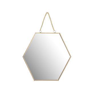 Q-Art Metal Altıgen Küçük Ayna