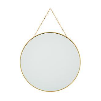 Q-Art Dekoratif Metal Ayna - Gold