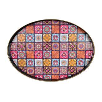 İpek Mandala Tepsi - 41x30 cm