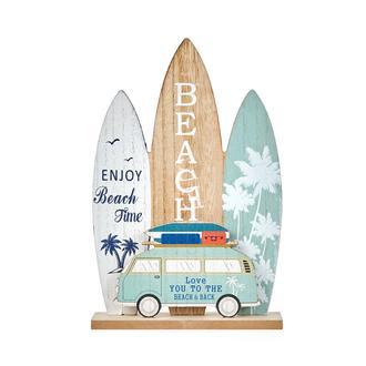 Q-Art Surf Tahtası Temalı Dekoratif Biblo - 27 cm