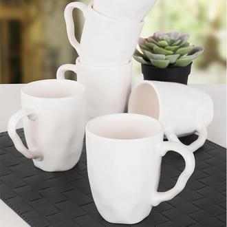 Keramika Organik Kupa - Beyaz