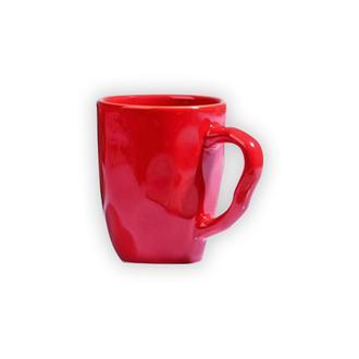 Keramika Organik Kupa - Kırmızı