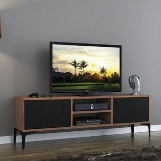 Just Home Fiera Tv Ünitesi - Atlantik Çam/Siyah