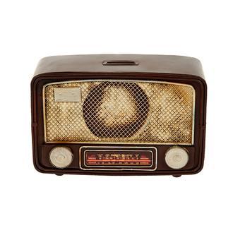 MNK Home Dekoratif Kumbaralı Metal Radyo - Asorti