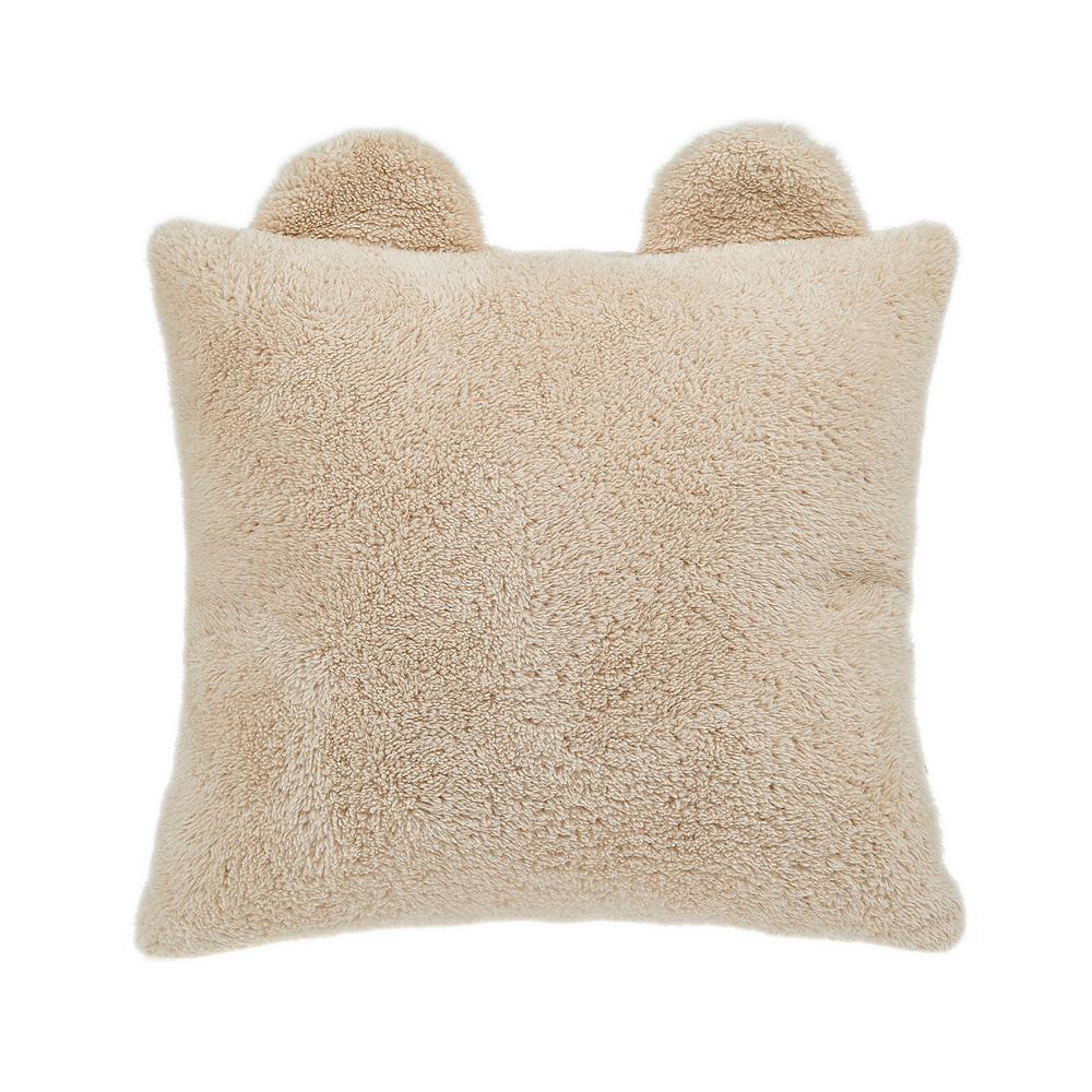 Nuvomon Bear Figürlü Yastık - Bej
