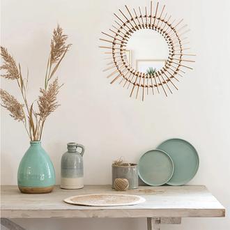 MiniMinti Rattan Dekoratif Bambu Ayna