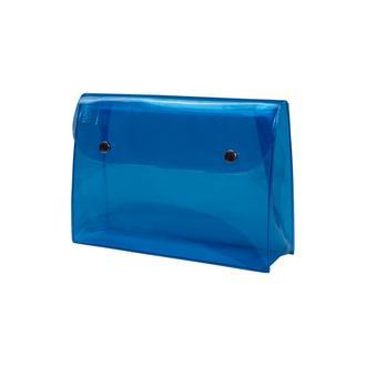 Funny Design Make Up Çıtçıtlı Kozmetik Çantası - Mavi