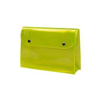 Funny Design Make Up Çıtçıtlı Kozmetik Çantası - Sarı