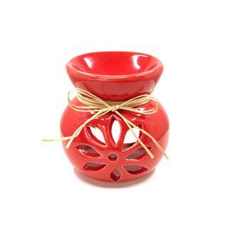 Yedi Home & Decor Seramik Çini El Yapımı Kırmızı Buhurdanlık - 10 cm