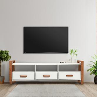 Just Home Vilne 3 Çekmeceli Tv Ünitesi - Beyaz