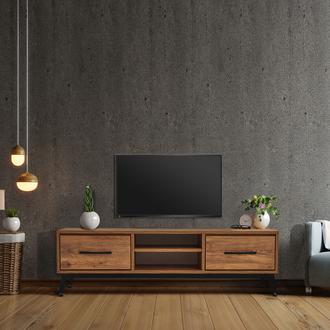Just Home Lidya Retro Tv Ünitesi - Atlantik Çam - 140 cm