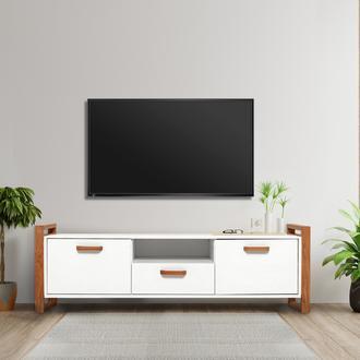 Just Home Vilne 2 Kapaklı Tek Çekmeceli Tv Ünitesi - Beyaz