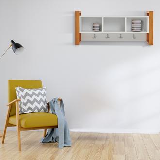 Just Home Vilne 3 Raflı Duvar Askılığı - Beyaz