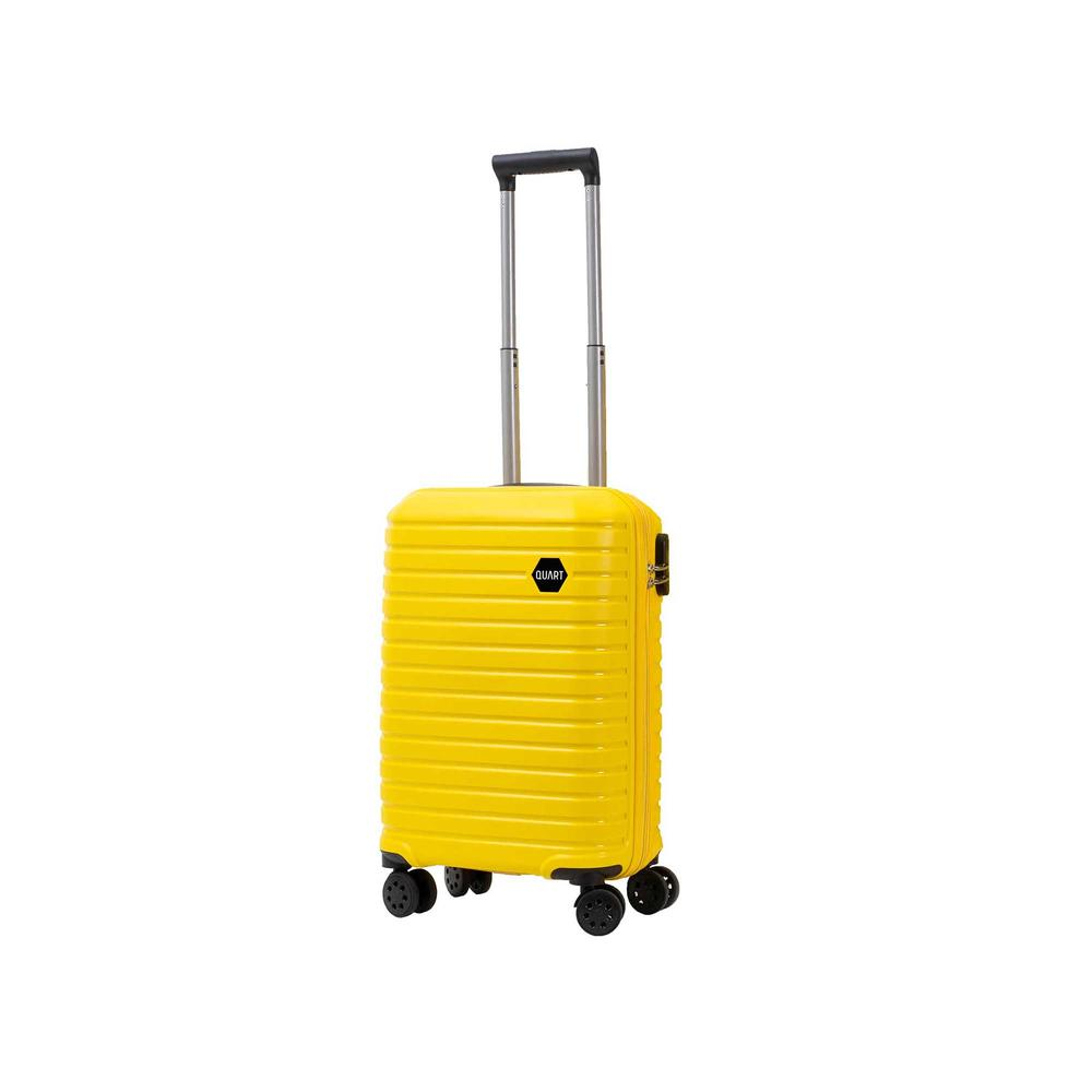 Quart İcon Model Kabin Boy Kırılmaz PP Valiz  - Sarı